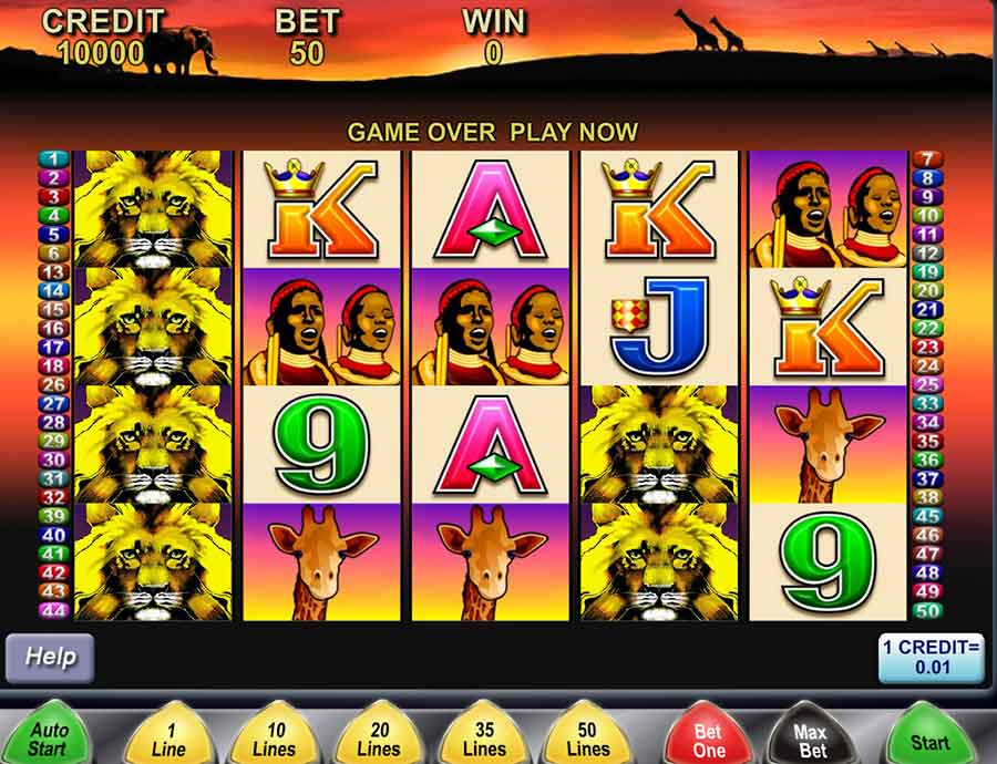 50 Lions Slots Main Features